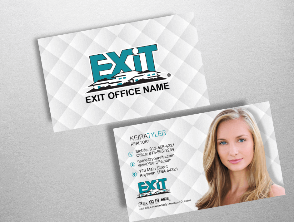 Exit realty business cards exit realty business card style exr201 colourmoves