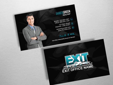 Order exit business cards free shipping design templates exit exit realty business card exr202 order reheart Images