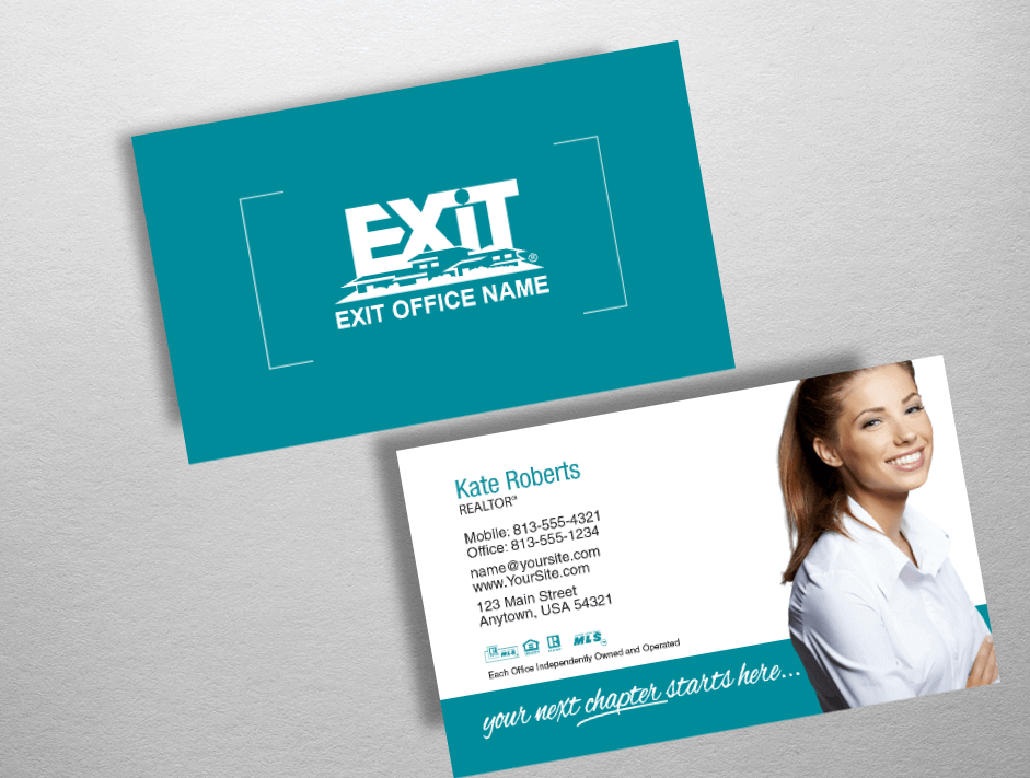 exit realty business cards exr203