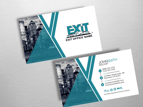 Order exit business cards free shipping design templates exit exit realty business card exr204 colourmoves Image collections
