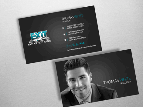 Order exit business cards free shipping design templates exit realty business card exr206 colourmoves