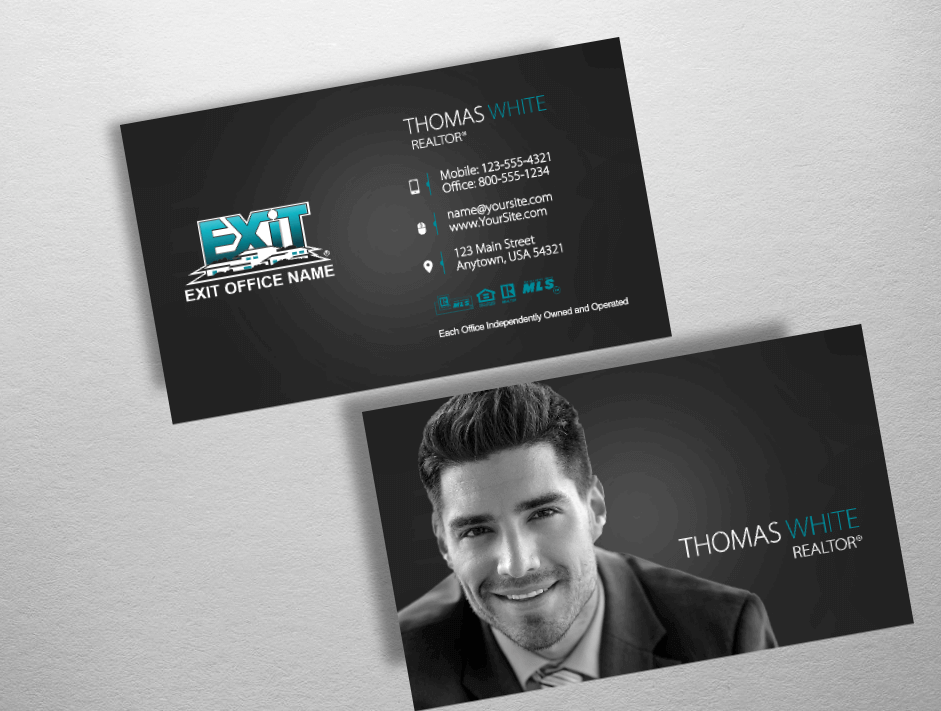 Top 10 exit realty business card designs exit realty for Top 10 business cards