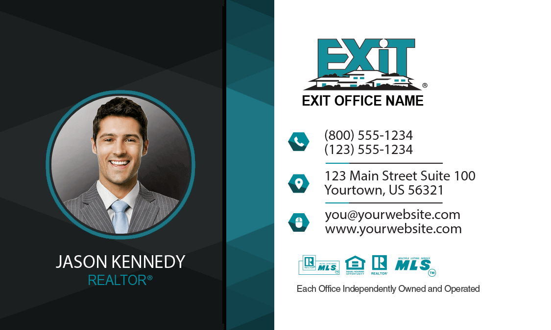 Comfortable exit realty business cards ideas business card ideas exit realty business cards exit realty business card style exr212 colourmoves