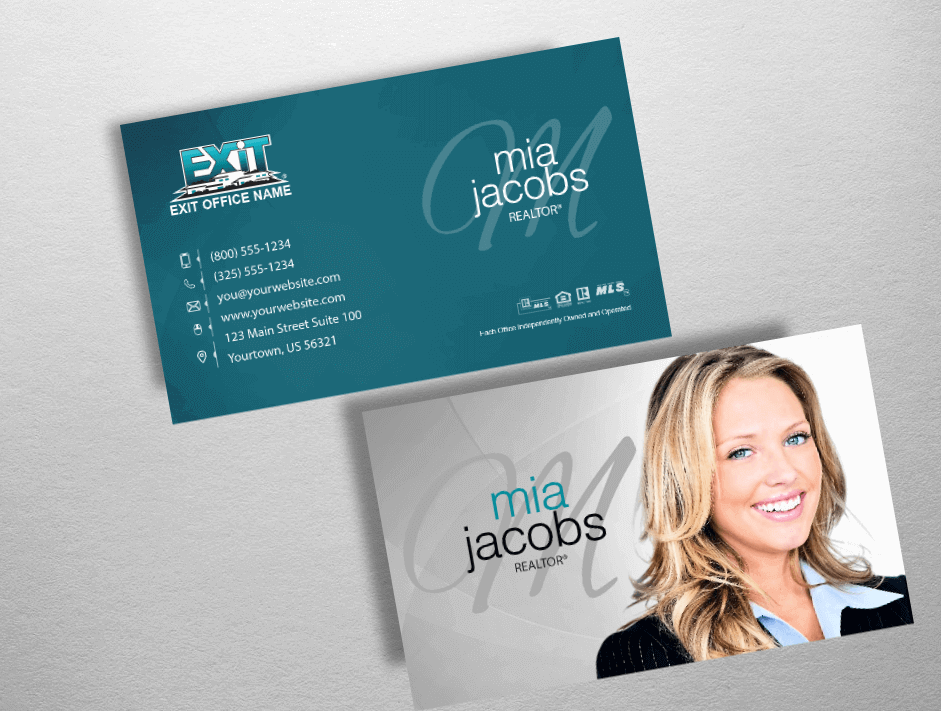 Exit Realty Business Cards | Exit Realty Business Card Style EXR222