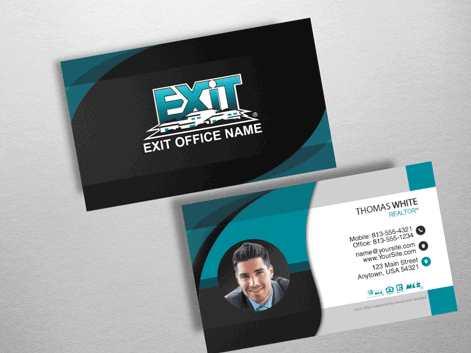 Exit realty business cards product tags masculine exit realty business card style exr224 colourmoves