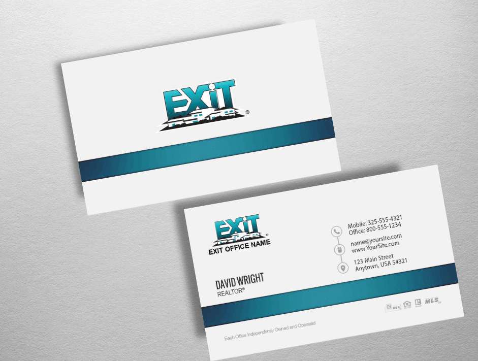 Exit Realty Business Cards | Exit Realty Business Card Style EXR235