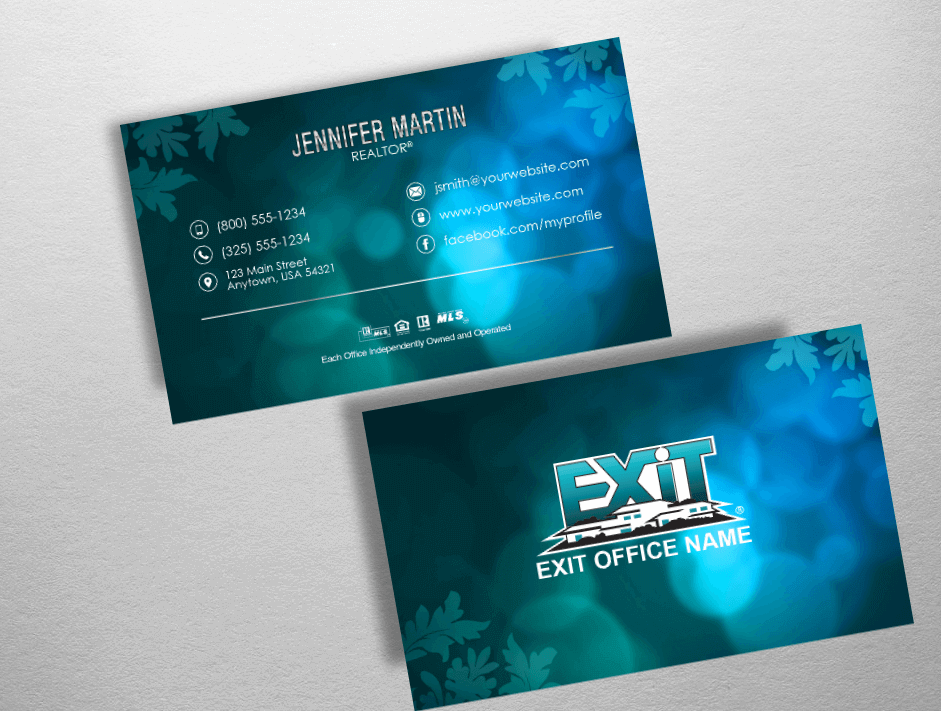 Exit Realty Business Cards | Exit Realty Business Card Style EXR237