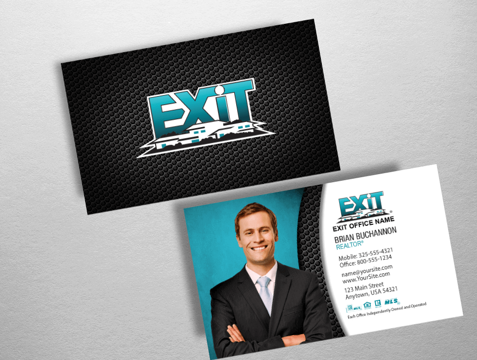 Exit realty business cards exit realty business card style exr238 colourmoves Image collections