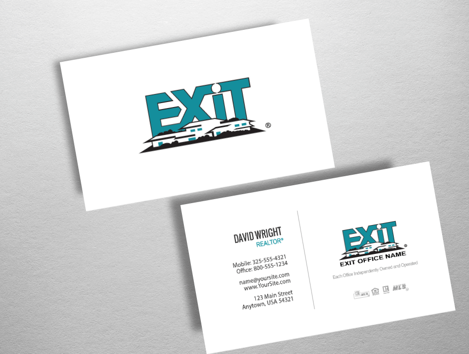 Exit Realty Business Cards | Exit Realty Business Card Style EXR247
