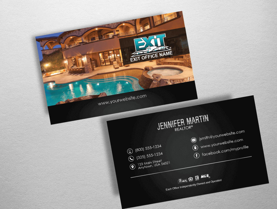 Top 10 Exit Realty Business Card Designs | Exit Realty Business Cards