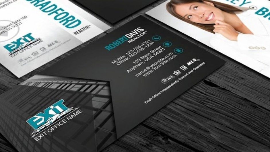 Modern Exit Realty Card Designs | Exit Realty Business Cards