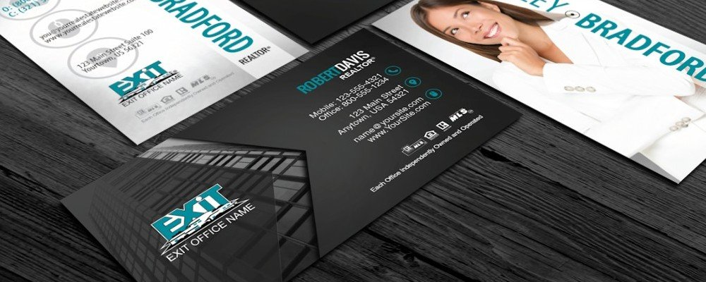 Top 10 exit realty business card designs exit realty business cards top 10 exit realty business card designs reheart Choice Image