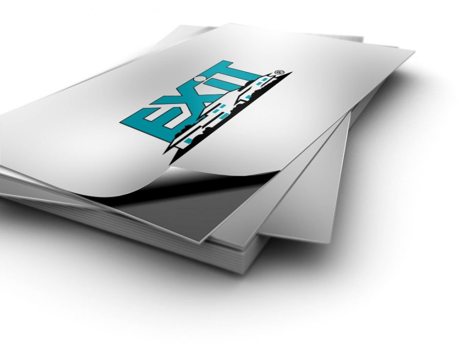 Add matching business card stickers