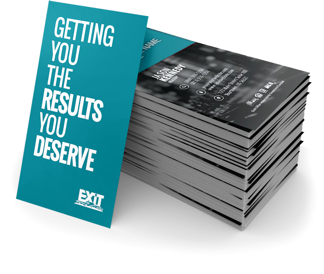 Exit realty business cards free shipping premium paper stocks reheart Image collections