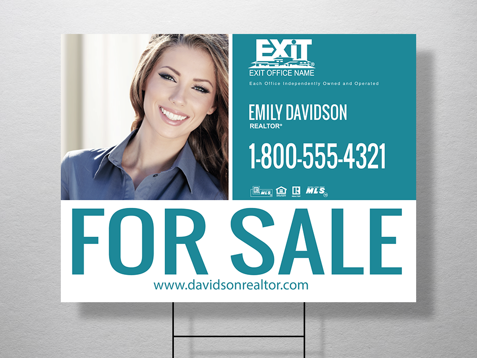 Order exit yard signs free shipping design templates exit exit realty yard signs are the perfect tool for increasing your reach reheart Images