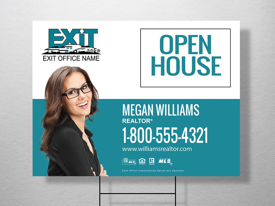 Order exit yard signs free shipping design templates exit order exit yard signs free shipping design templates exit realty business cards reheart Image collections