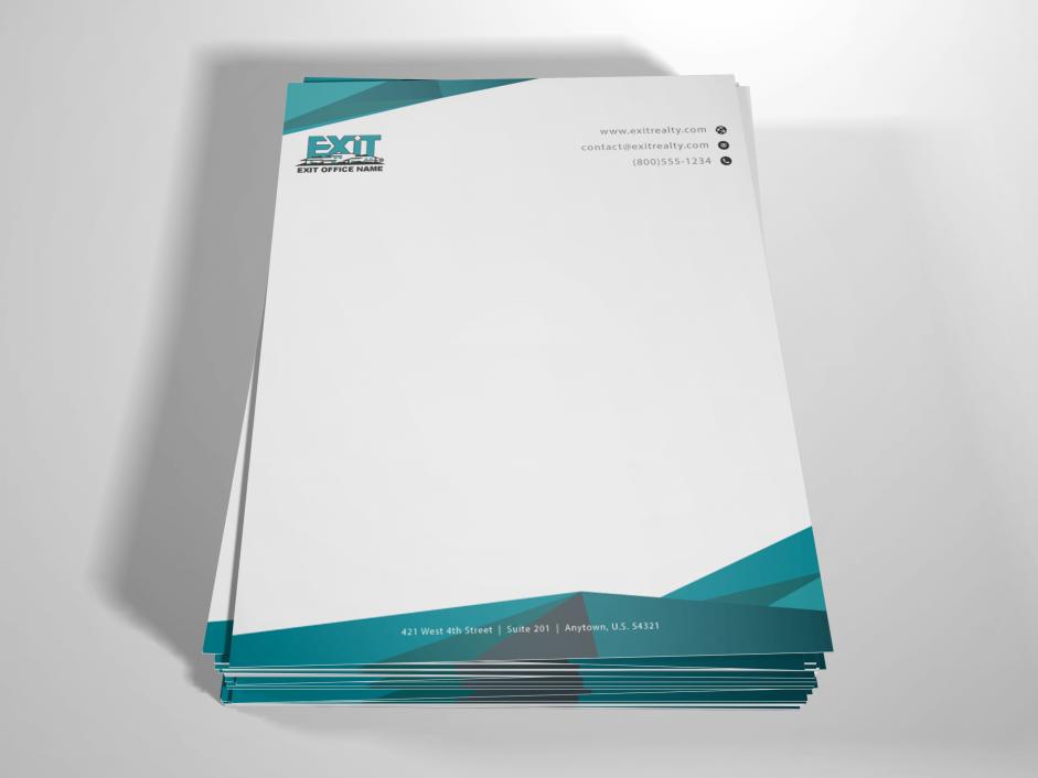 Order Exit Letterhead | Free Shipping | Letterhead Design Templates ...