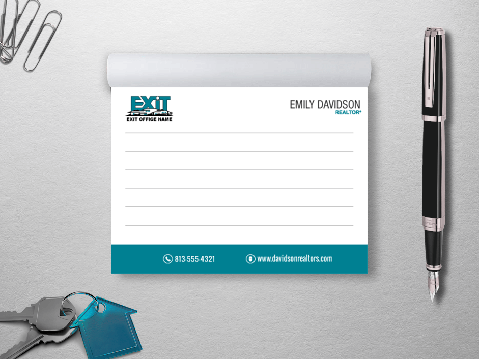 Exit Realty Business Cards | Product Tags | notepad